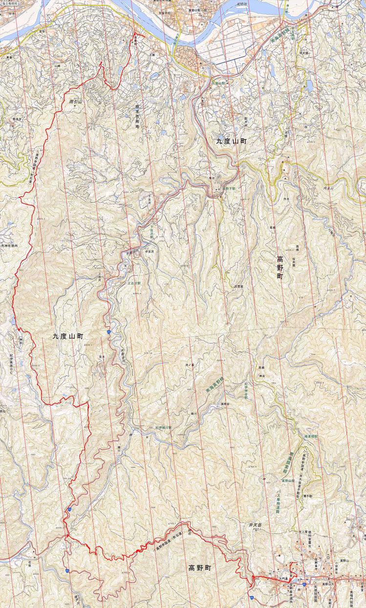 高野山町石道 ルート図