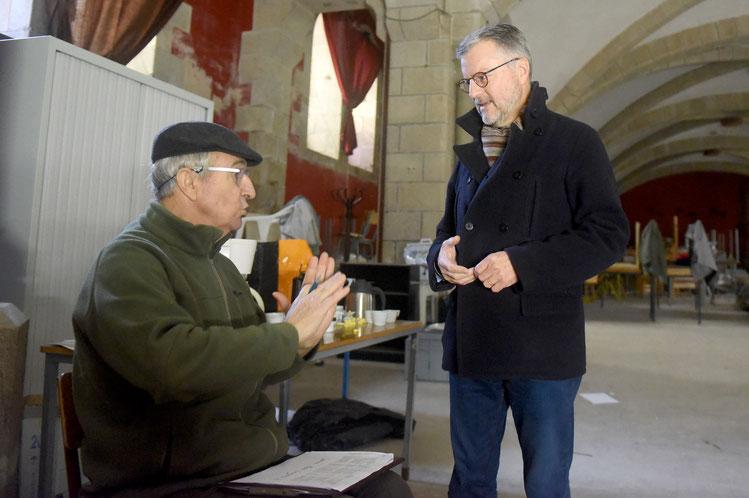 Thierry Nau, directeur du Likès, a tenu à venir encourager les déménageurs