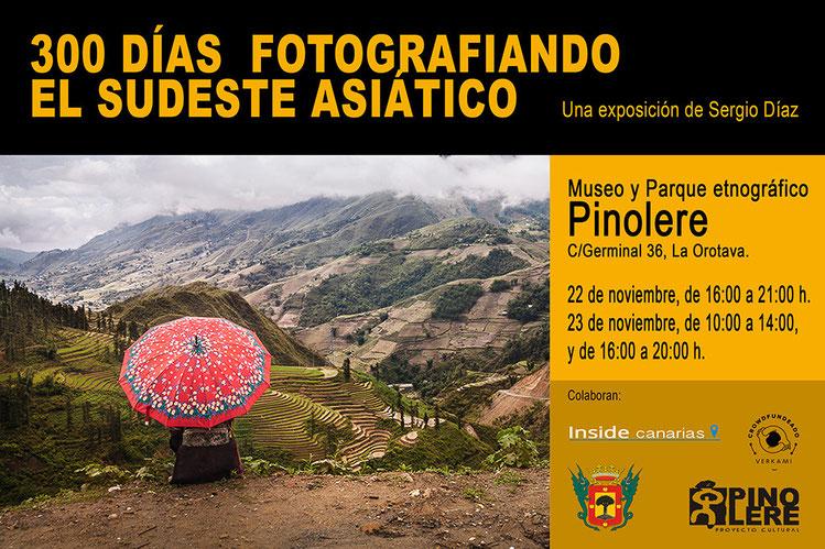 Exposición fotográfica de Sergio Díaz en el Museo Pinolere, La Orotava, Tenerife