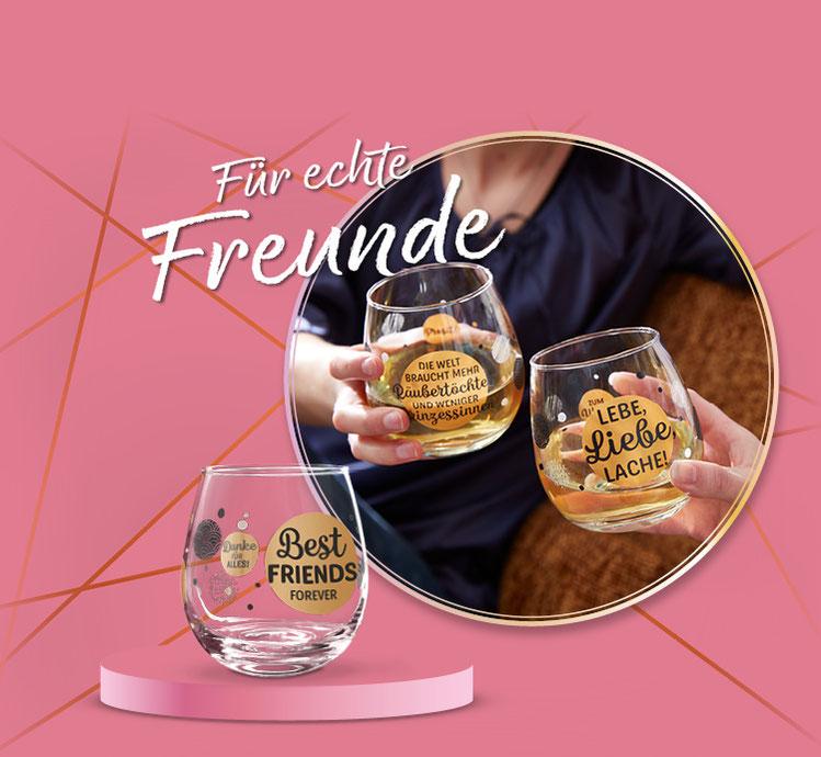 Die Geschenkidee für die besten Freunde Freundinnen, gute Freunde: Das Weinglas Cocktailglas von formano.