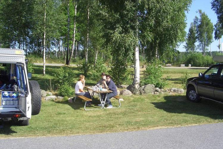 Kleines Picknik auf dem Weg nach Oslo