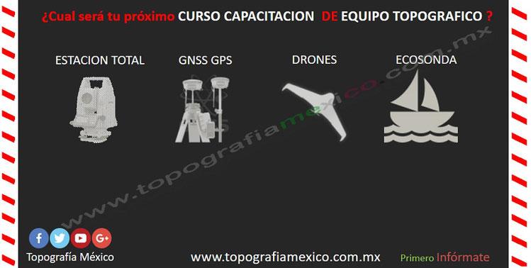 curso capacitacion de estaciones totales gps drones sonares ecosondas