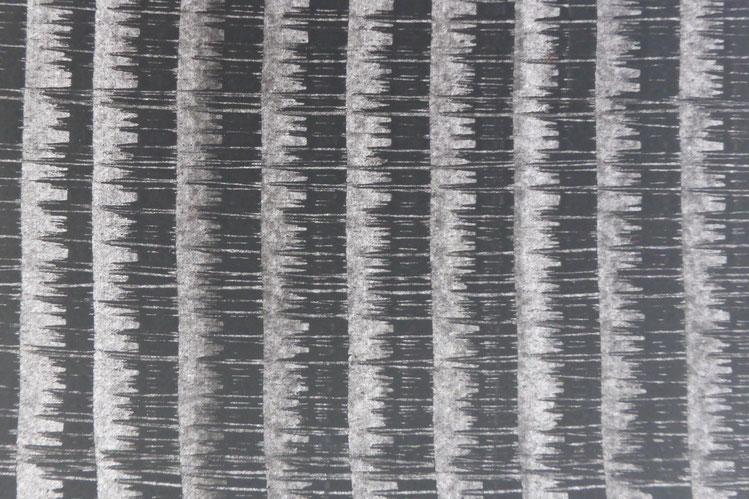 Kleisterpapier mit Verdrängungsdekor, Detail ca. 13 x 9 cm