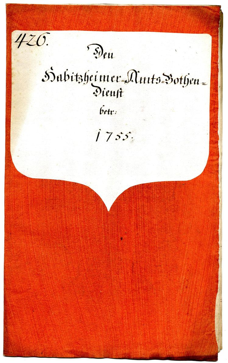 Gestrichenes (Kleister-)Papier, Quelle: Archivverbund Main-Tauber, Signatur: StAWt - RR 8a Nr. 426