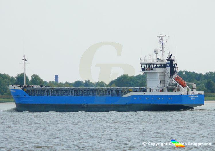 Mehrzweckfrachter PRIMA DONNA, Elbe 21.08.2018