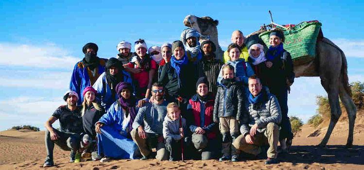 escursioni e viaggi in gruppo nel deserto del marocco