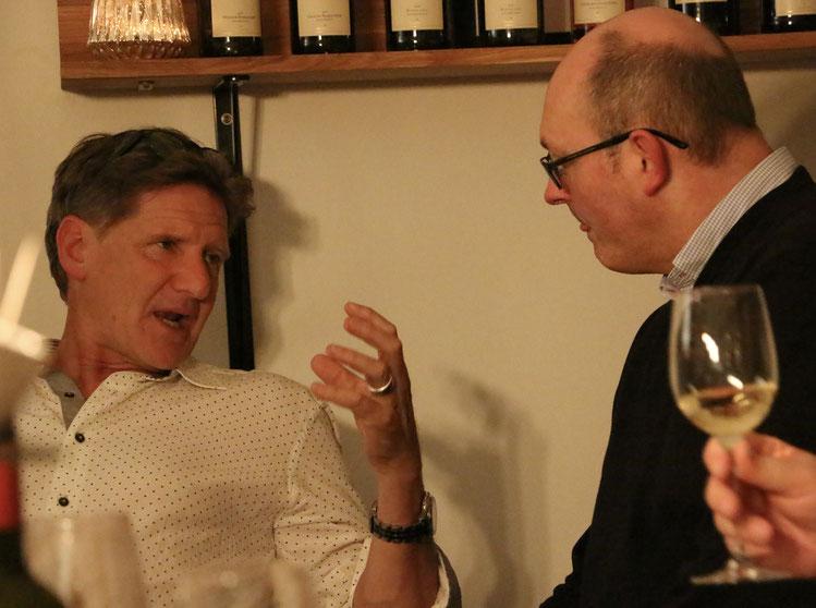 Rijk Melck vom Weingut Muratie aus Stellenbosch/Südafrika bei uns zur Weinprobe.