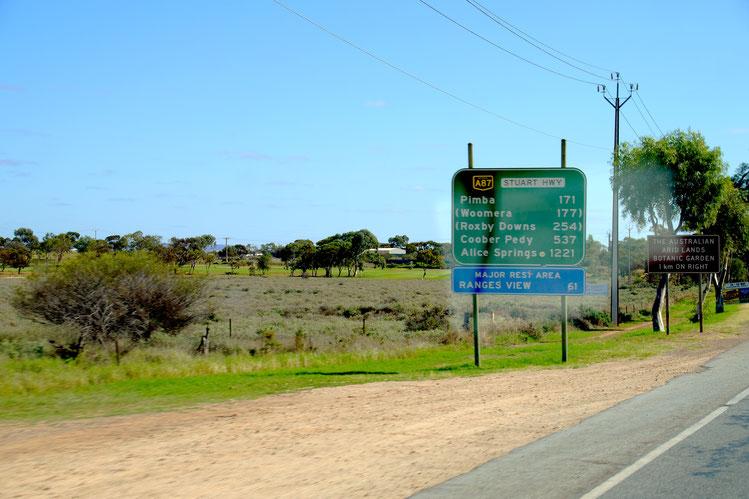 Reiseplanung Australien, Stuart Highway