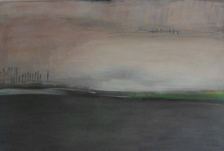 Landschaft  Eitempera auf Leinwand   80 x 120 cm