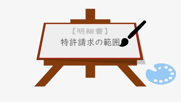 明細書というキャンバスのうえに、特許請求の範囲という絵を描くことができることを表す図