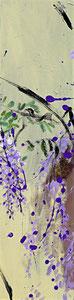 紫藤6 WISTERIA 6 100X25CM 布面油画 OIL ON CANVAS