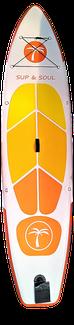 Standuppaddeln SUP Board Allround mit Unter Wasser Fenster Gelb