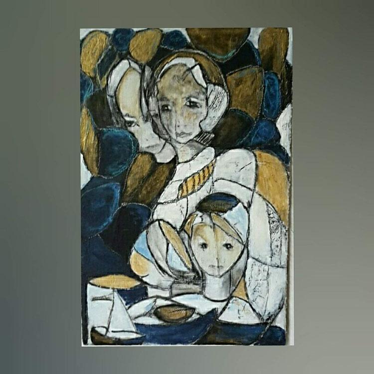 Acryl auf Malpappe/ 70×100 cm