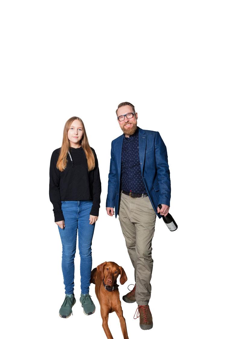 Hannah Sofie, Gustav & Leo Uibel ; Foto: Weinhof Uibel