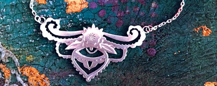 Emma Hedley Jewellery Hand Pierced Silver Enchantment Necklace Intricate Metal Work