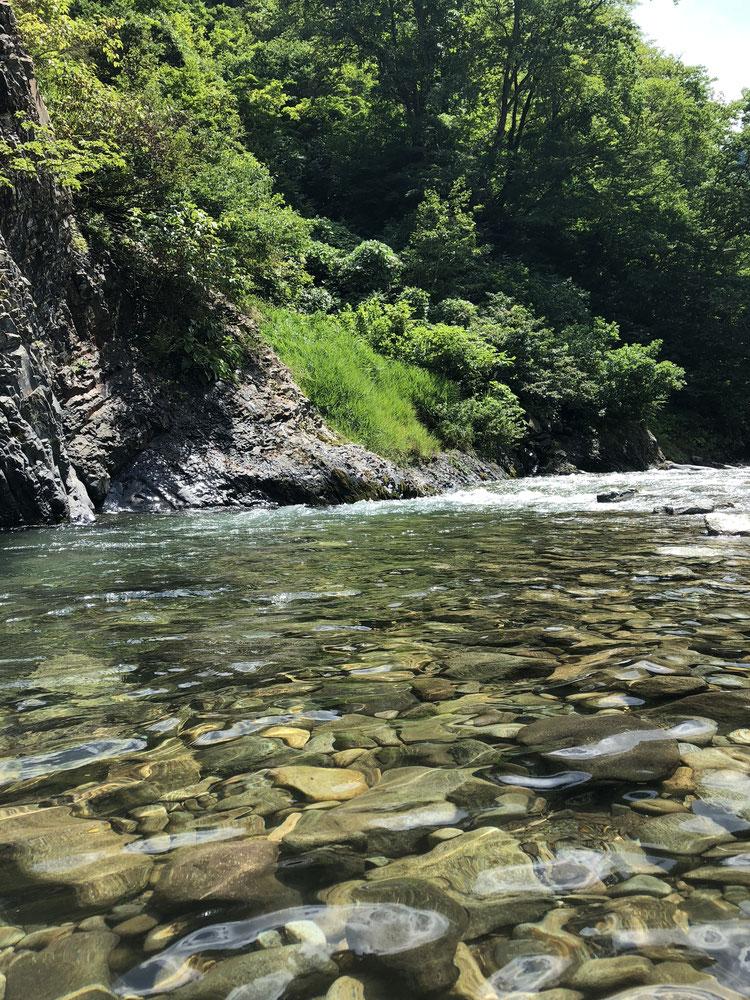 新潟県 十日町市 自然 渓谷 清津峡 清津峡渓谷トンネル 川