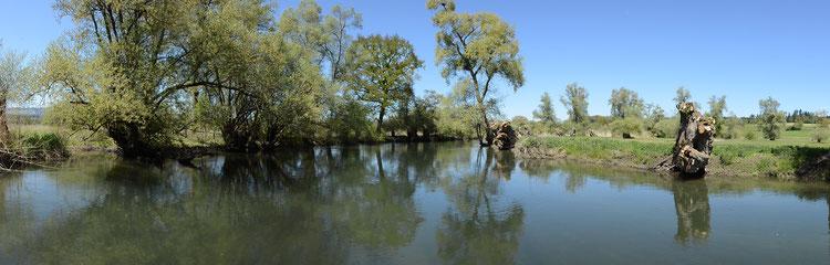 Panoramabild Lorze Kanu Gummiboot