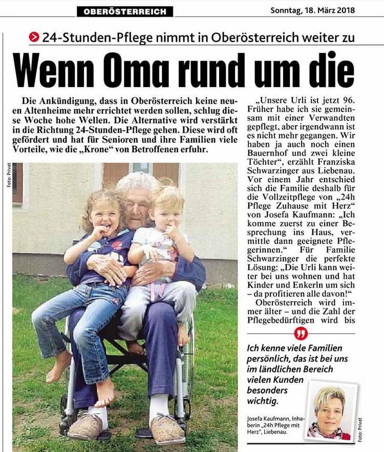 Kronen Zeitung vom 18.03.2018