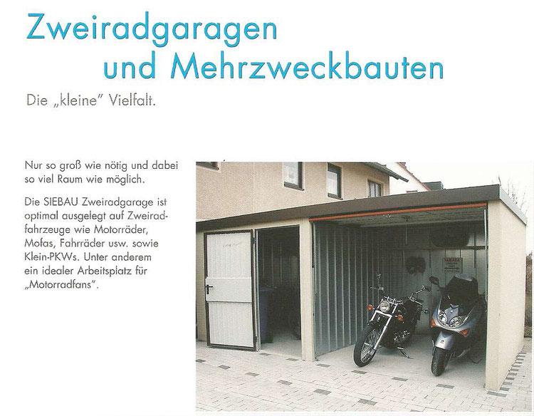 Motorrad Garage - Carport in Holz, Alu, Stahl. Carport Bausatz