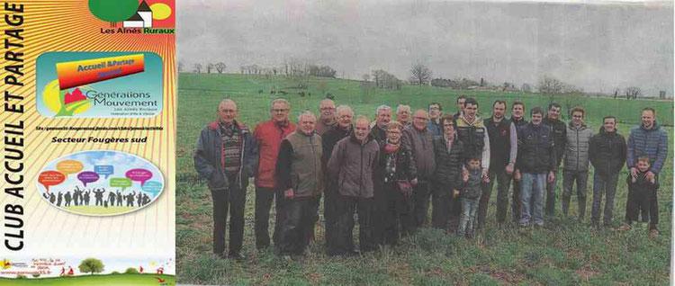Le club Accueil & Partage avec les organisateurs des Terres de Jim