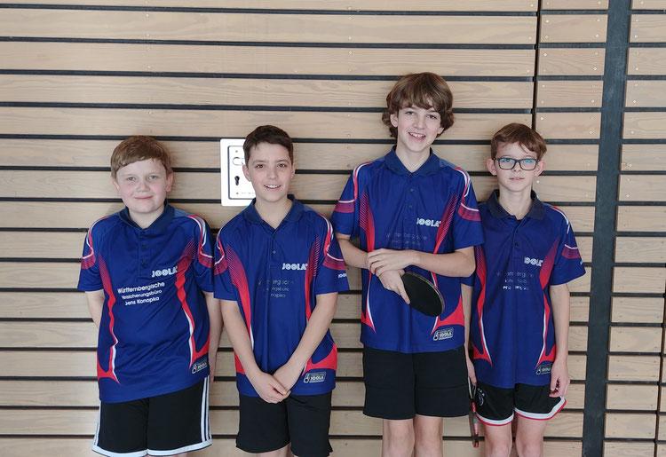 Die Jungenmannschaft des TTC Egenhausen