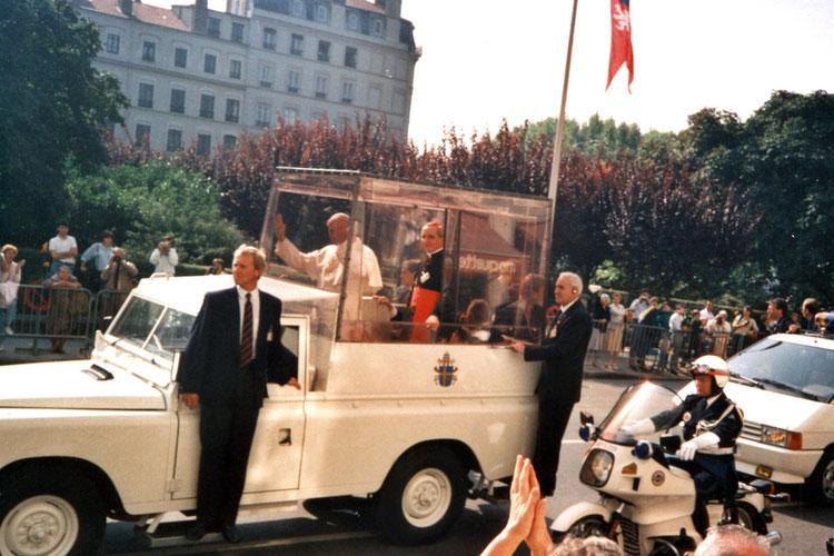 Pape Jean-Paul II à Lyon en 1986
