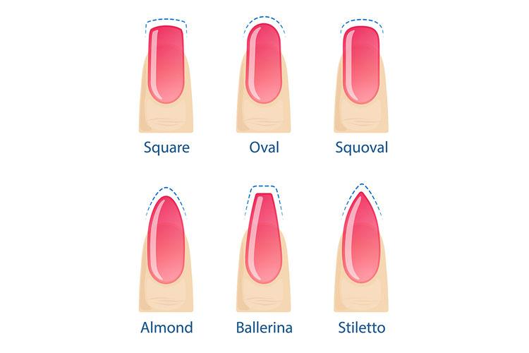 6 beliebte Nagelformen