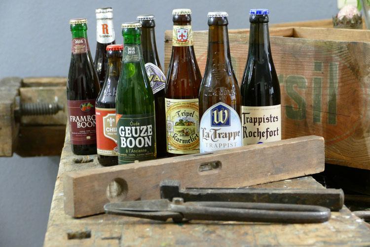 Craftbeer Bier Auswahl für das Tasting mit Matthias Kopp Bier Faktur Craftbiertasting belgisches Bier