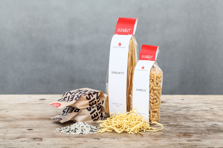 Nudeln von Schauts und Bioreis von Reishunger