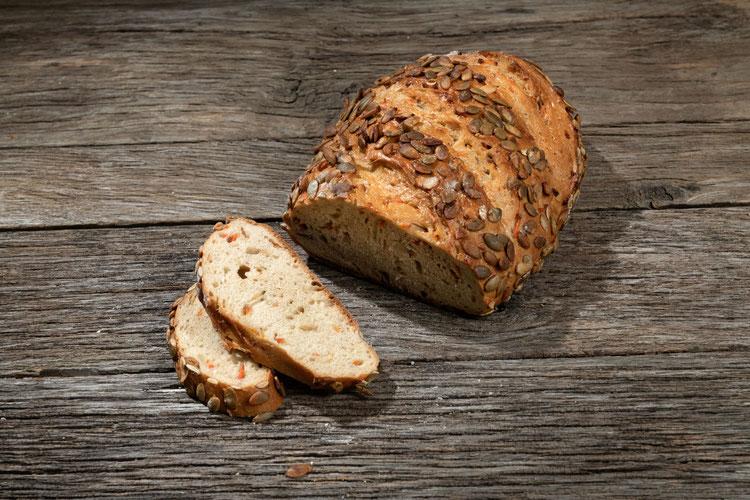 Bio Brot Demeter Karotten Sonnenblumkerne