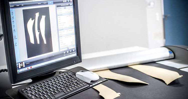 CAD CCAD 2D-Konstruktion Scannen von Modellschablonen und Umrissen