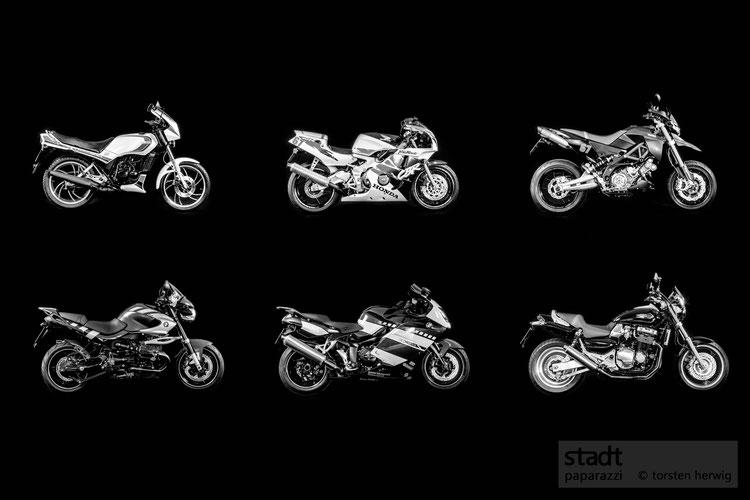 Titel: Motorrad Evolution / Kaschierung: Alu gebürstet / Maaße: 120 cm x 80 cm