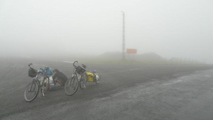 1er col en Turquie, le beau temps n'est pas vraiment de la partie