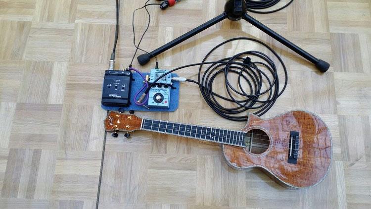 サウンドチェックが終わり、あとは本番を待つのみ!僕の活動をサポートしてくださっている、タカミネギター様、そしてWizBromn様ありがとうございます♪