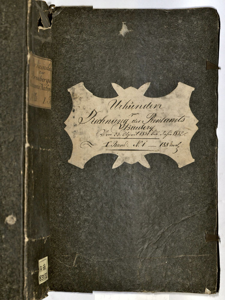 Kleisterpapier, Quelle: Archivverbund Main-Tauber, Signatur: StAWt - RR68 1831/32