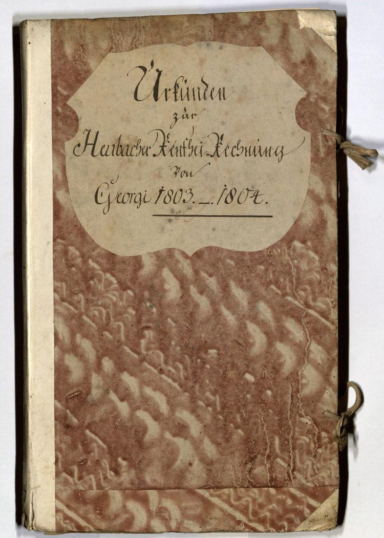 Kleisterpapier mit Verdrängungsdekor in Herrnhuter Art, Quelle: Archivverbund Main-Tauber, Signatur: StAWt - RR72 1803/04
