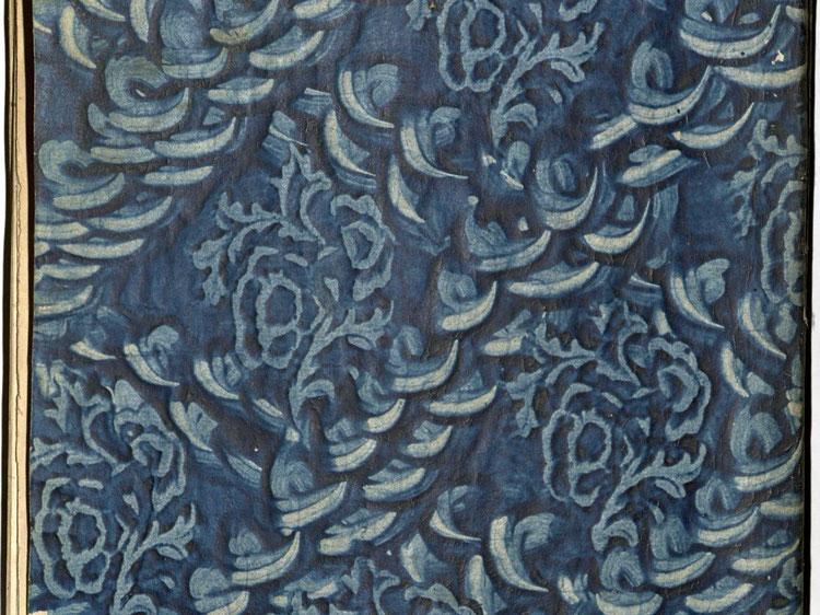 Kleisterpapier mit Verdrängungsdekor - Detail, Quelle: Archivverbund Main-Tauber, Signatur: StAWt - FR 1784/85 )*