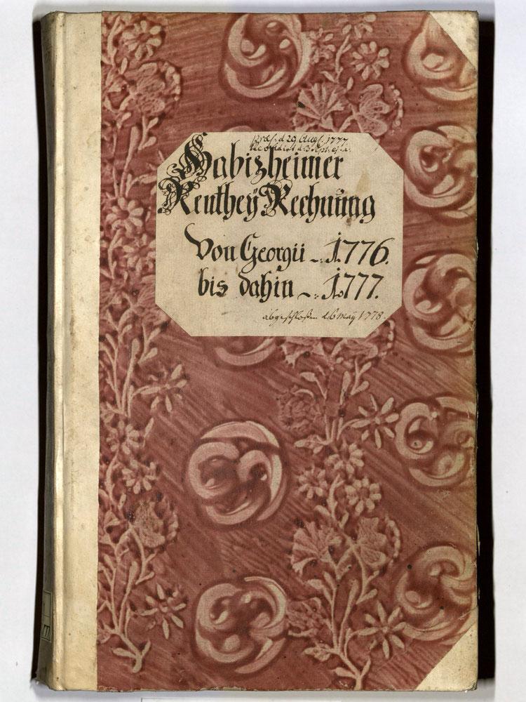 Kleisterpapier mit Verdrängungsdekor, Quelle: Archivverbund Main-Tauber, Signatur: StAWt - RR71 1776/77  )*