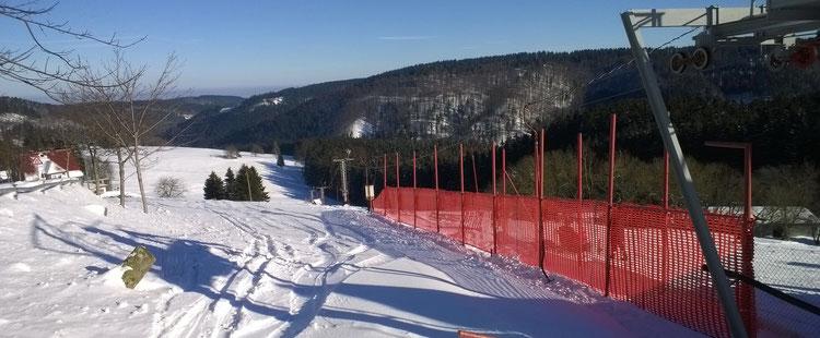 Skilift am Ritter, ca 200m von uns