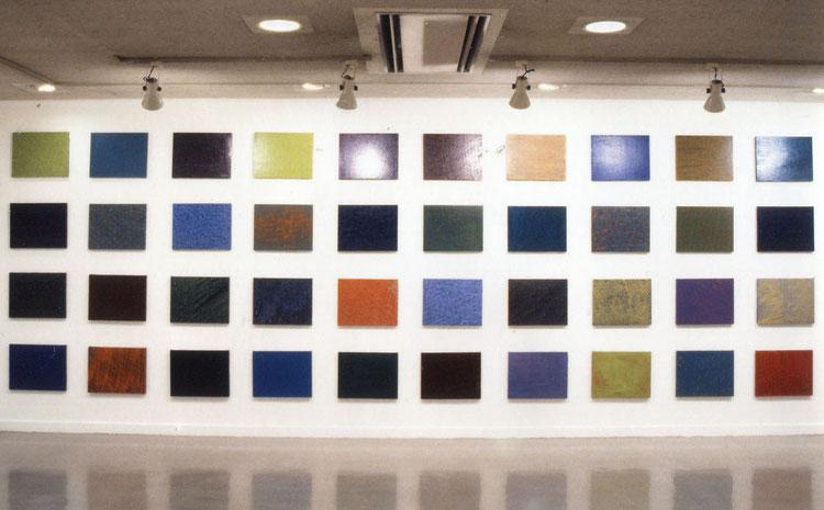 多元化       綿布に油彩   31.8×41.0cm(F6号×40)