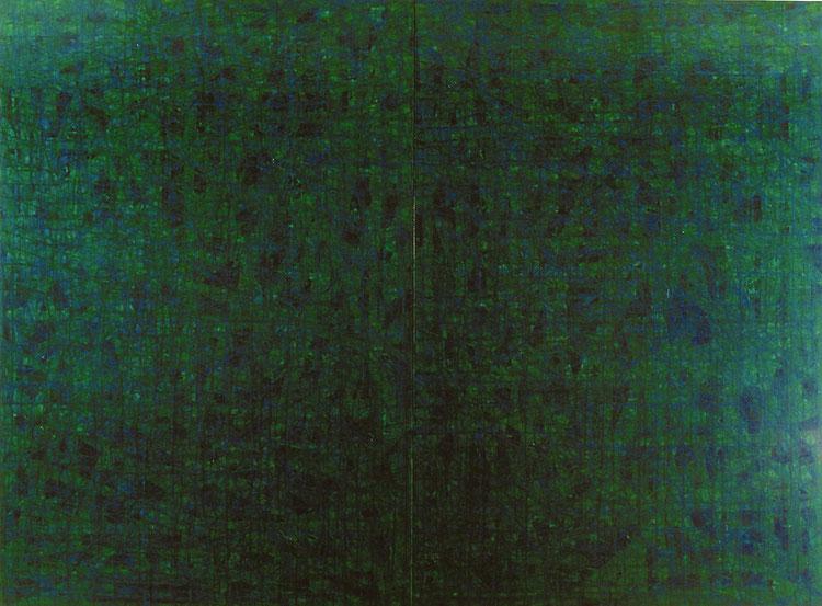 水場P.10     キャンバスに油彩   194×260.6cm(F120号×2)