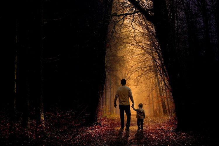 Père et fils , Forêt , Histoire , Imagination