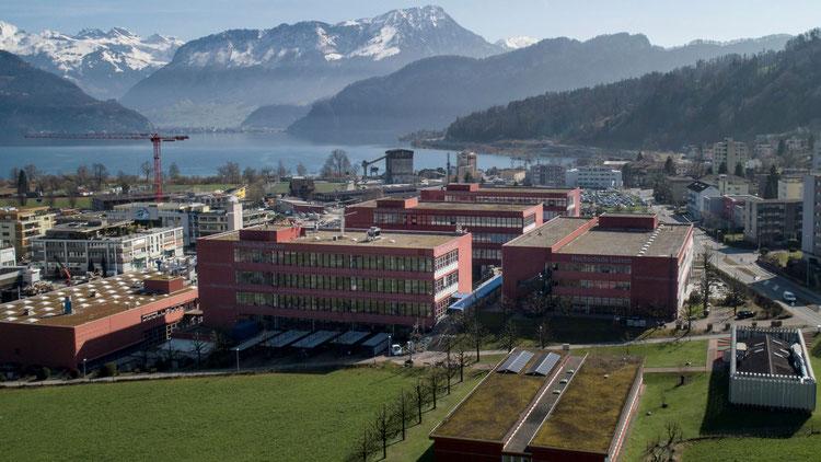 HSLU Technik und Architektur in Horw aus der Luft