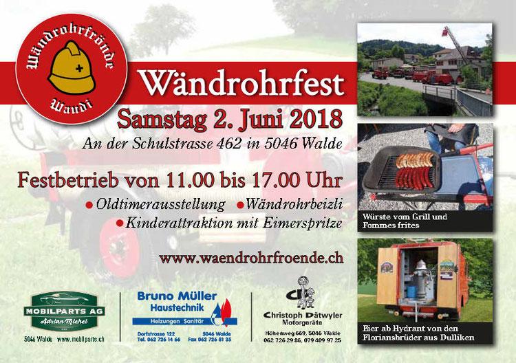 Flyer Wändrohrfest 2018