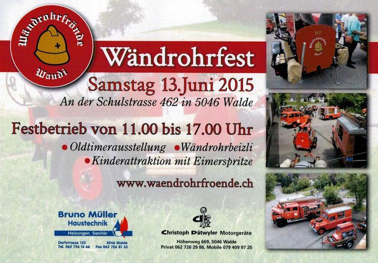 Flyer Wandrohrfest 2015