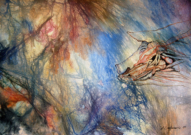 Cerdo 2009, acuarela 26.5X37cm