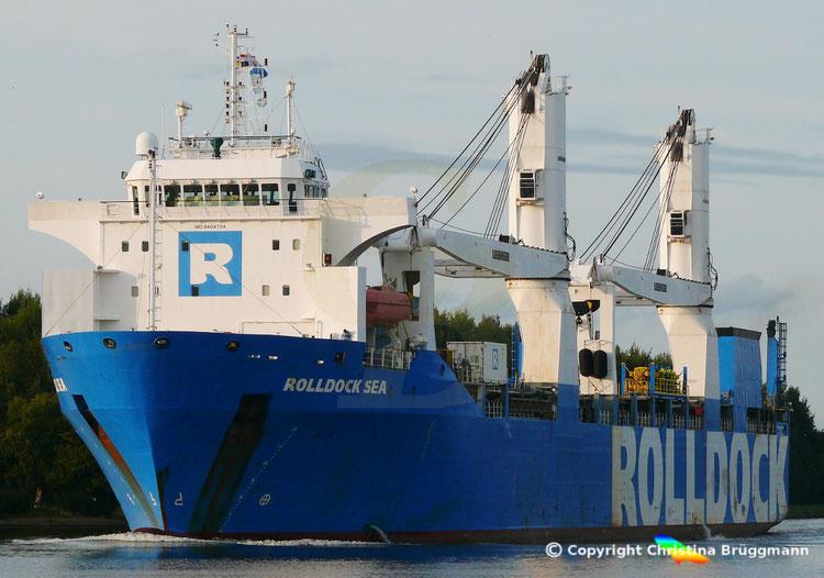 "Semi-Submersible, Ro-Ro, Heavy Lift Vessel ""ROLLDOCK SEA"" der niederländischen RollDock, NOK 20.08.2018"