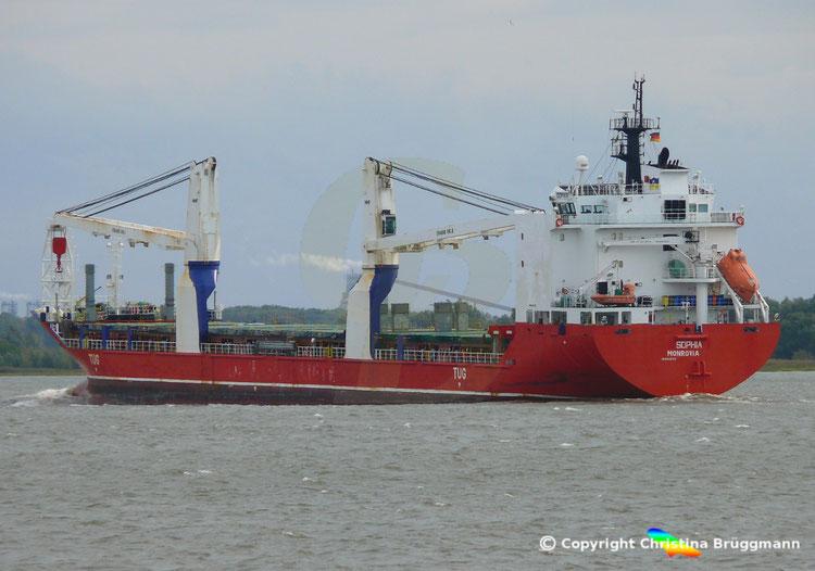 Schwergutfrachter SOPHIA, Elbe 21.09.2018