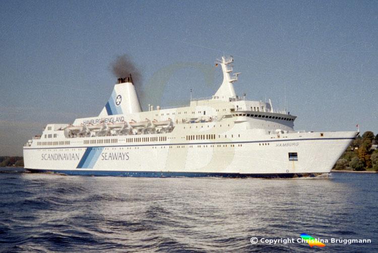 Fährschiff HAMBURG, Elbe 1996