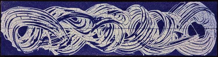 Drift in Blau  /  Diptychon  (160X50cm)    2012